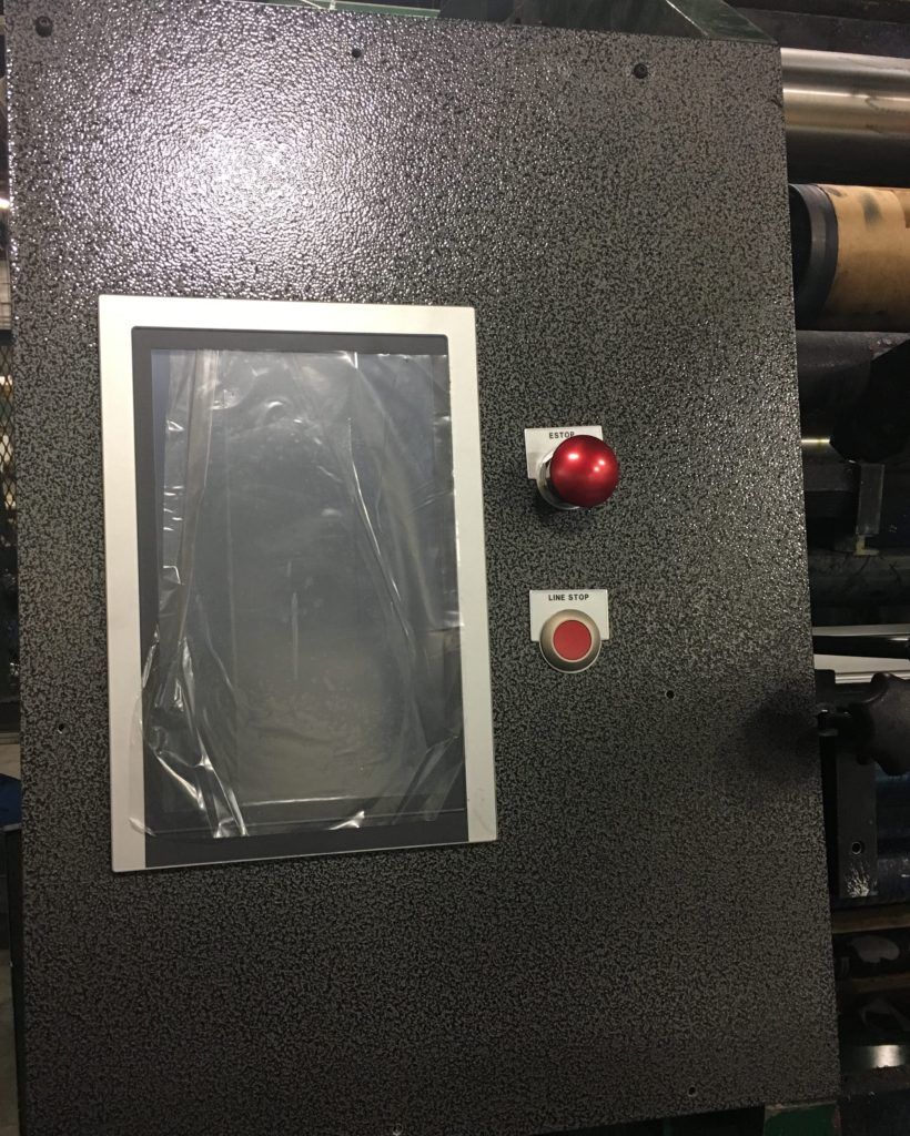 Replacement two station RGE press panel.